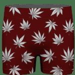 Marijuana Leaves Cool All Over Print Dark Red Men's Boxer