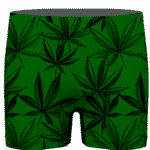 Marijuana Leaves Dope Dark Green Minimalist Men's Underwear
