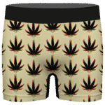 Marijuana Weed Trippy Colors Cool Awesome Seamless Men's Brief
