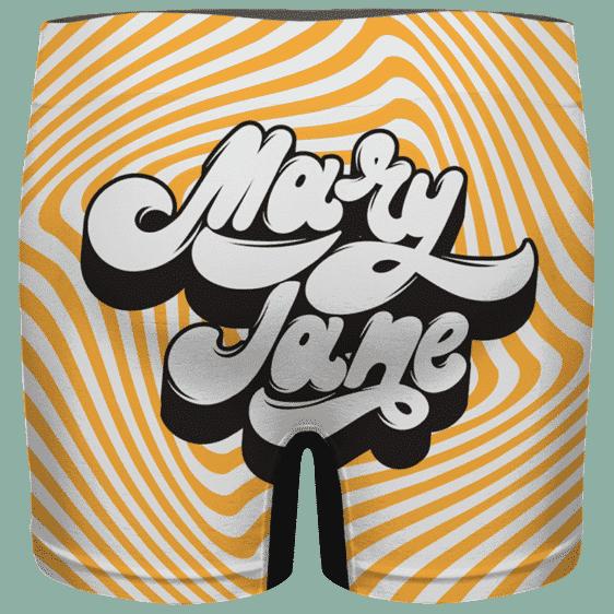 Mary Jane Retro Style 420 Orange Dope Men's Boxer Brief