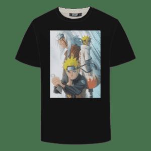 Naruto Minato Jiraiya Epic Black T-shirt