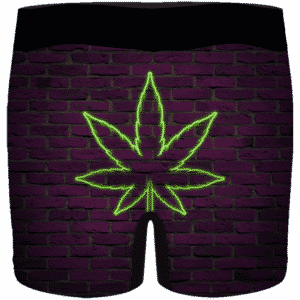 Neon 420 Marijuana Retro Brick Wall Weed Men's Underwear