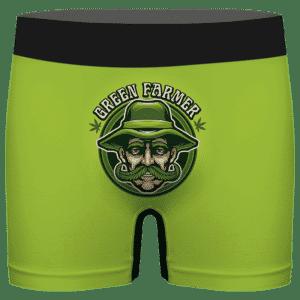 Old Man Cannabis Farmer Cool Green Men's Boxer Briefs
