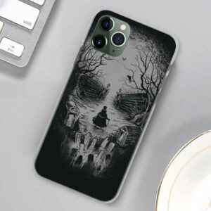 Old Man & Creepy View Forming Skull Gray iPhone 12 Case