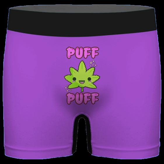 Puff Puff Cute Marijuana Leaf Purple Cool Men's Boxer