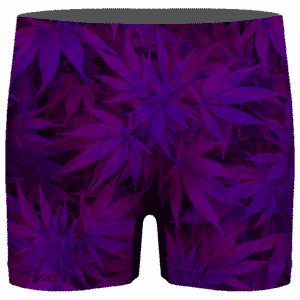 Purple Haze Trippy Marijuana Hemp 420 Men's Boxer Brief