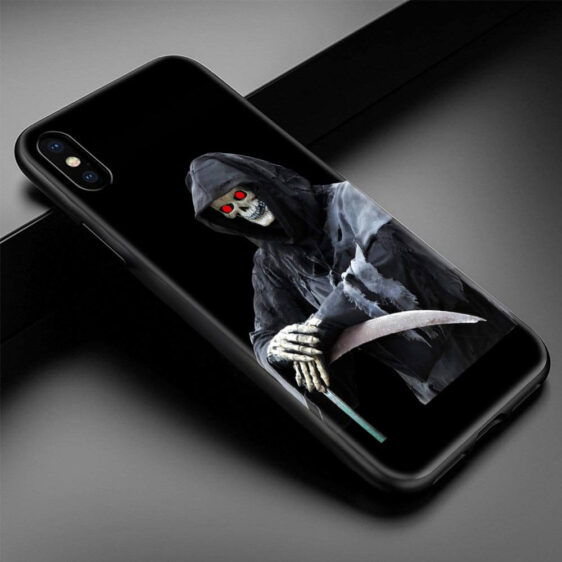 Realistic Grim Reaper Red Glowing Eyes Dope iPhone 12 Case
