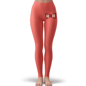 Red Ribbon Army Logo Pastel Red Minimalist Yoga Pants