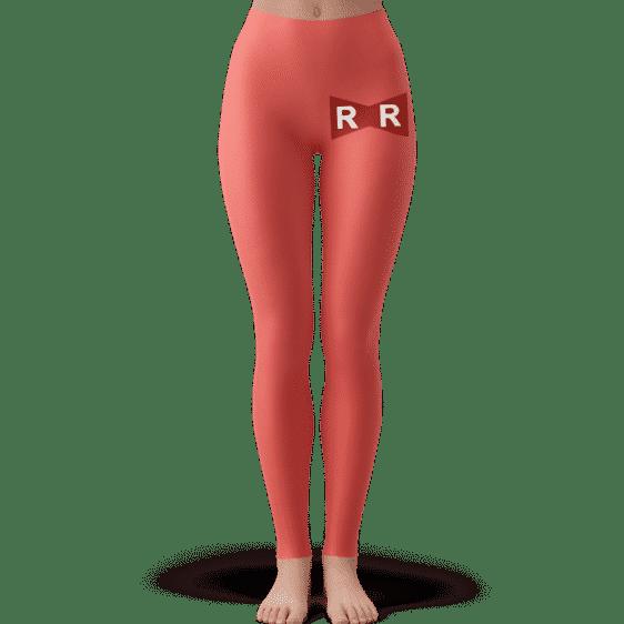 Red Ribbon Army Logo Pastel Red Minimalist Yoga Pants