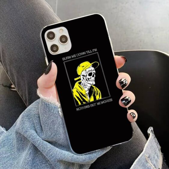 Sad Quote Skeleton With Yellow Clothes Cool iPhone 12 Case