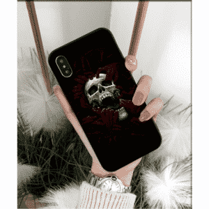 Skull Surrounded By Red Bloody Hands Dope iPhone 12 Case