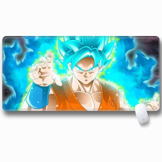 Son Goku SSGSS Form Blue Aura Whis Logo Non-Slip Mouse Pad