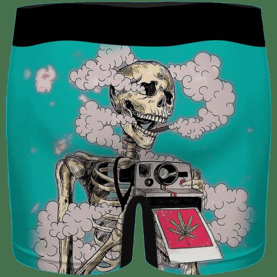 Trippy Stoned Skull Taking A Photo 420 Weed Hemp Men's Underwear