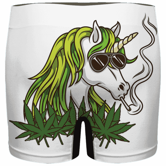 Trippy Unicorn Smoking Joint Awesome Cannabis Men's Underwear