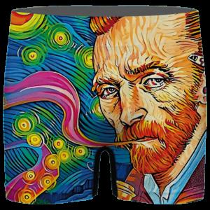 Van Gogh Starry Night Smoking Bong Trippy Bomb Men's Boxer Brief