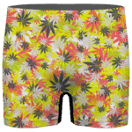 Weed Hemp Marijuana Pattern Colorful All Over Print Men's Brief