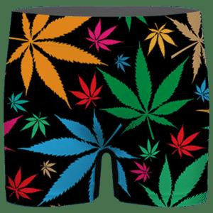 Weed Marijuana Colorful Seamless Pattern Dope Men's Underwear
