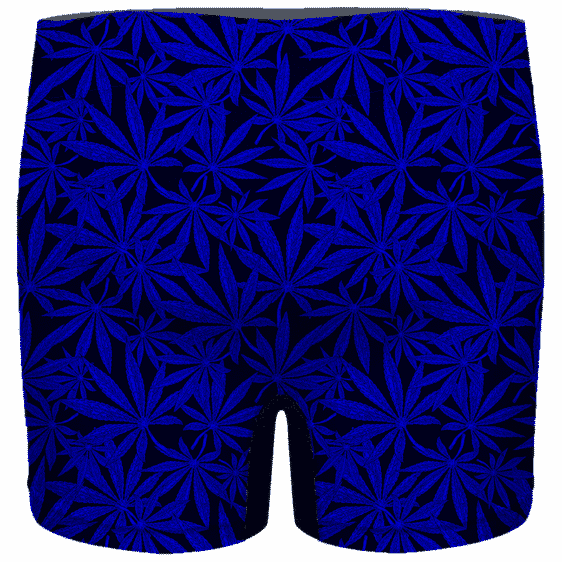 Weed Marijuana Leaves Dope Navy Blue Pattern Cool Men's Boxer
