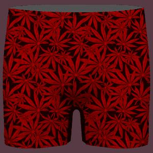 Weed Marijuana Leaves Great Red Pattern Cool Men's Boxer Brief