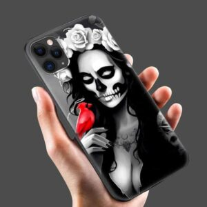 Pretty Lady Calavera Makeup Day of The Dead Cool iPhone 12 Case