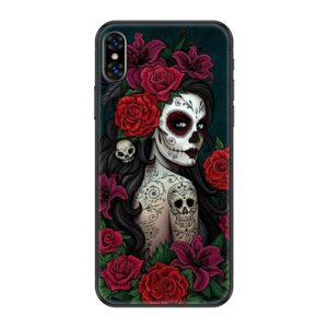 Tattooed Catrina Calavera Makeup Day of the Dead iPhone 12 Case