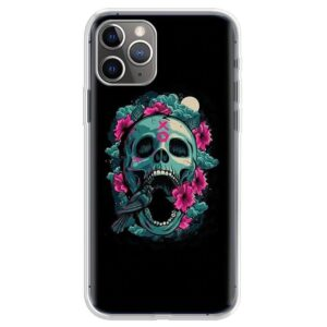 Retro Style XO Blue Green Pink Skull Dope iPhone 12 Case