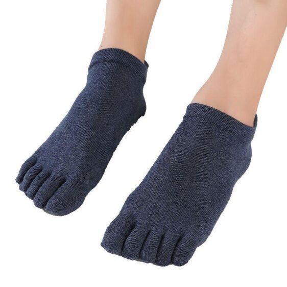 1 Pair Cotton Non-Slip Anti-skid Silicone Grips Pilates Yoga Socks - Yoga Socks - Chakra Galaxy