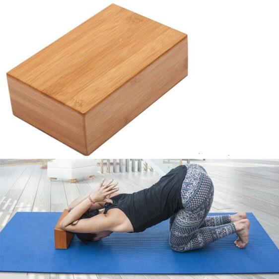 1pc Natural Bamboo Non-Slip Yoga Block Fitness Training Brick - Yoga Blocks - Chakra Galaxy