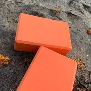 1pc Tangerine Orange Soft Yoga Workout Brick for Restorative Yoga EVA - Yoga Props - Chakra Galaxy