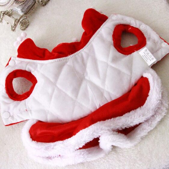 Adorable Mrs Claus Christmas Winter Costume Red Dress For Dogs - Woof Apparel