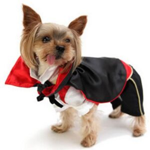 Cute Monster Vampire Halloween Costume With Cape For Dogs - Woof Apparel