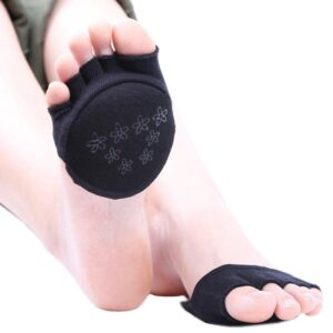 3 Pairs Non-Slip Silicone Grips Half Toe Pad Foot Grip Yoga Pilates Socks - Yoga Socks - Chakra Galaxy