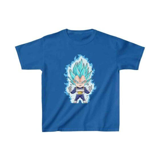 DBZ Vegeta Super Saiyan Blue Chibi Art Kids T-shirt