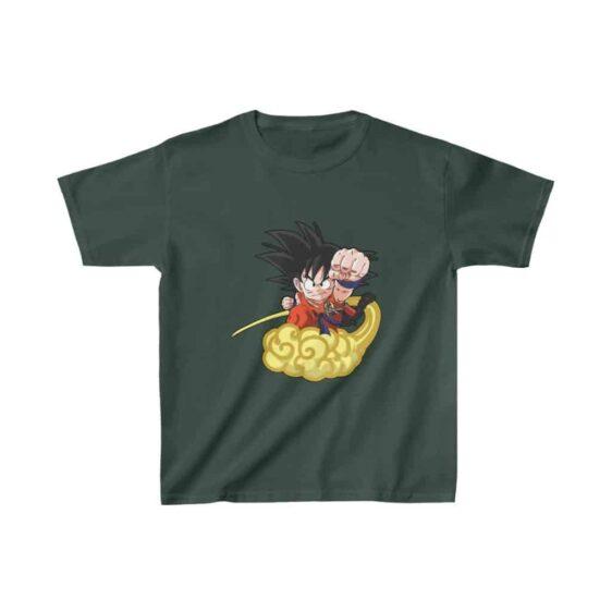 Dragon Ball Kid Goku Flying Nimbus Cool Kids T-shirt