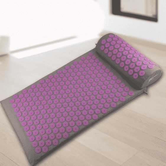 Incredible Ash Gray with Purple Spikes Cheap Acupressure Yoga Mat Online