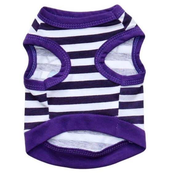Big Eyes Striped Summer Cotton Clothes Small Dog Shirt - Woof Apparel