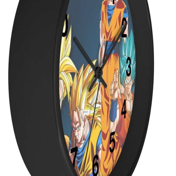 Dragon Ball Z Son Goku Transformations Awesome Wall Clock