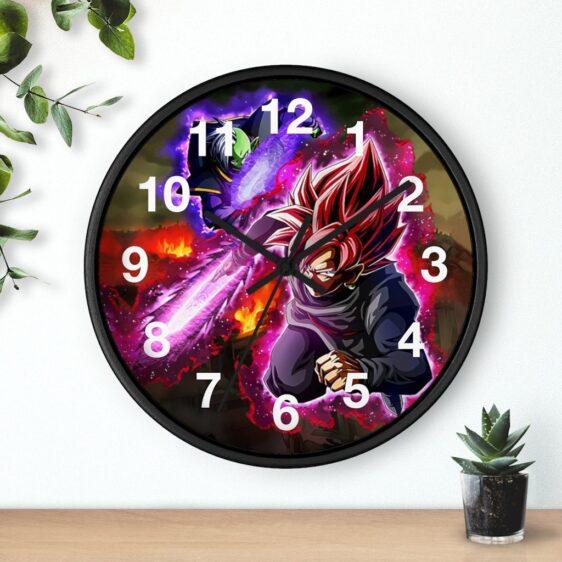 Dragon Ball Super Goku Black Zamasu Rose Aura Dope Wall Clock