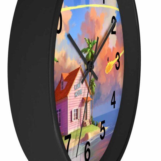 DBZ Kame House & Goku Flying Nimbus Painting Wall Clock