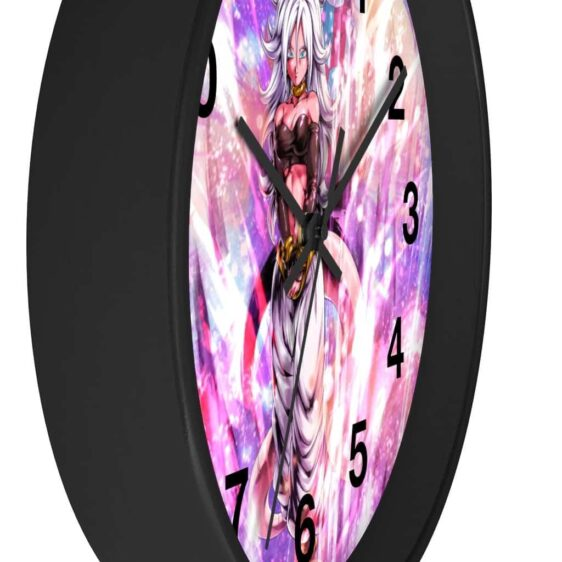 Dragon Ball Legends Android 21 Beautiful Pink Art Wall Clock