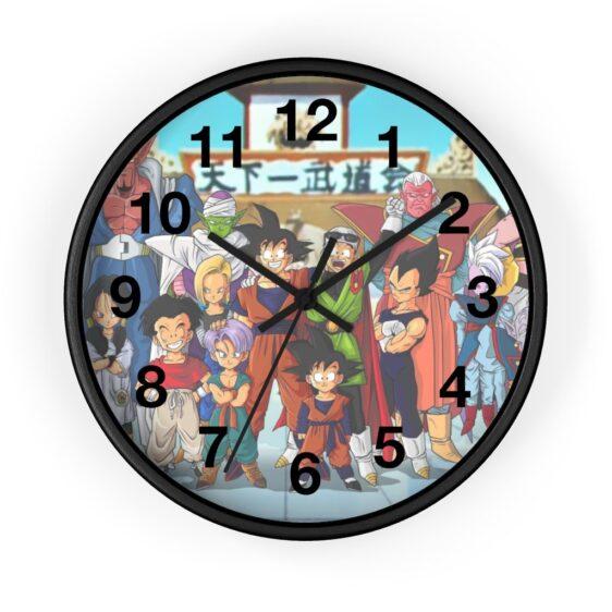 Dragon Ball Z Goku & Other Characters Anime Poster Wall Clock