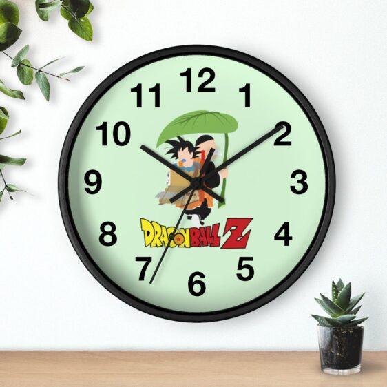DBZ Son Goku & Grandpa Gohan Minimalist Art Wall Clock