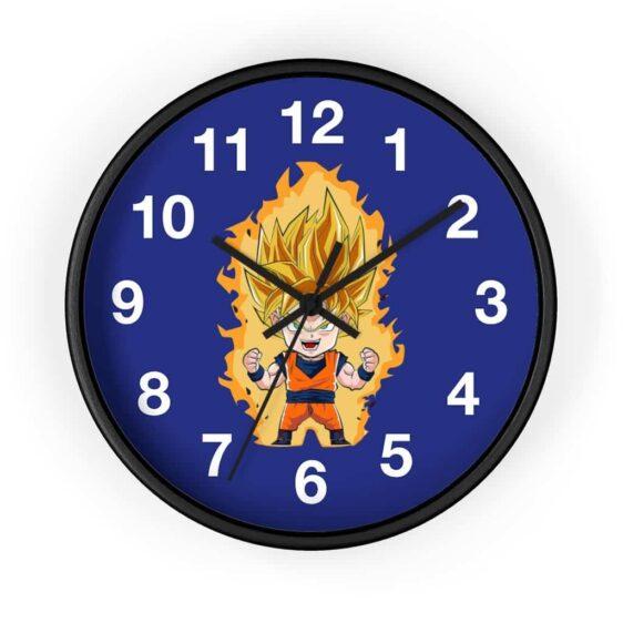 Dragon Ball Z Super Saiyan 2 Goku Chibi Adorable Wall Clock