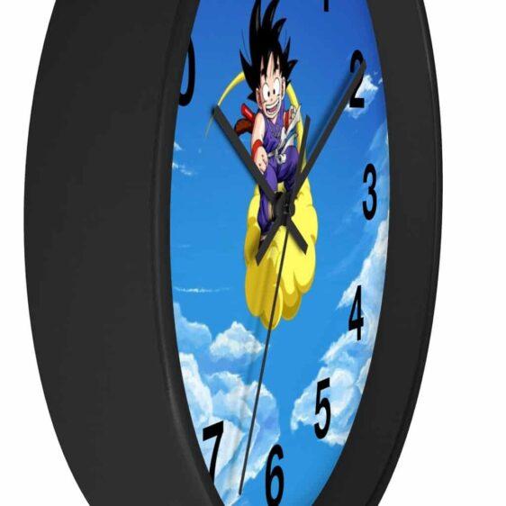 Dragon Ball Z Happy Kid Goku Flying Nimbus Cloud Wall Clock