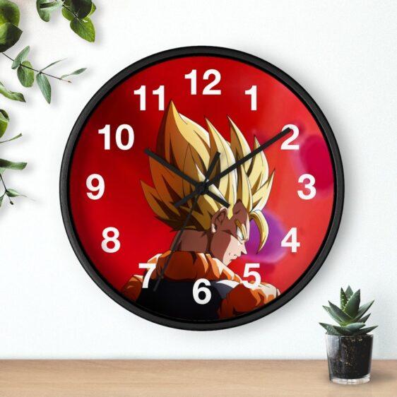 Dragon Ball Super Gogeta Super Saiyan Back Pose Cool Wall Clock
