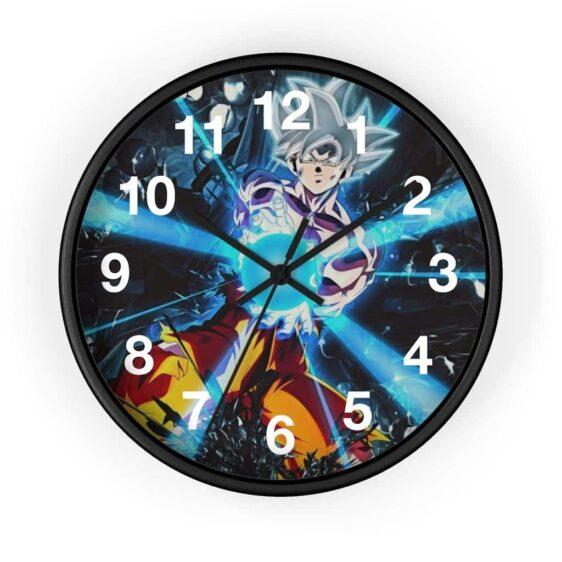 Dragon Ball Z Goku Ultra Instinct Form Charge Attack Wall Clock