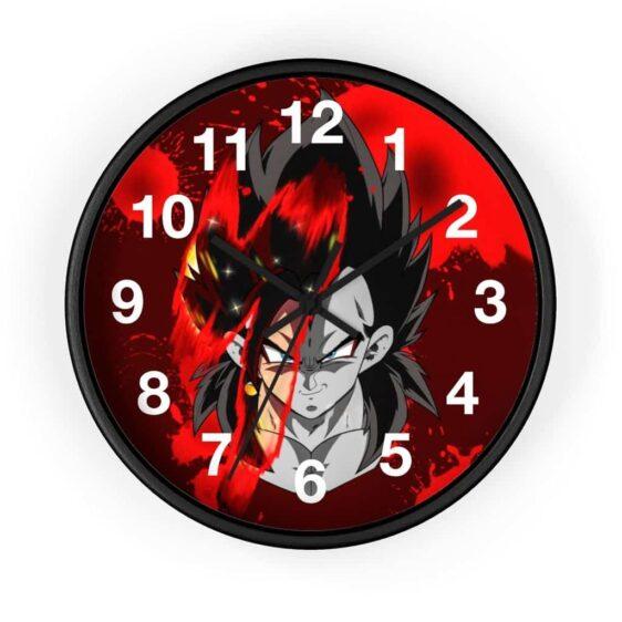 Dragon Ball GT SSJ4 Vegeta Face Stylish Art Wall Clock