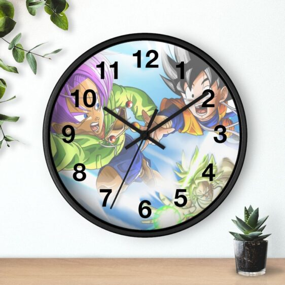 DBS Movie Broly Chasing Trunks & Goten Cool Wall Clock