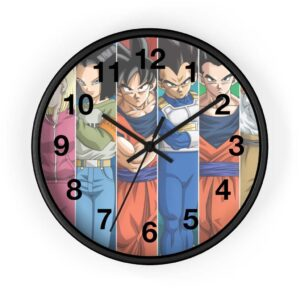 Dragon Ball Team Universe 7 Poster Art Classic Wall Clock