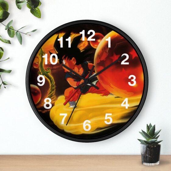 DBZ Kid Goku Shenron & Earth Dragon Balls Classic Wall Clock